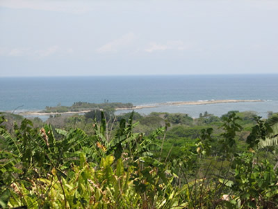 Dramatic view of Cabuya Island from the hills